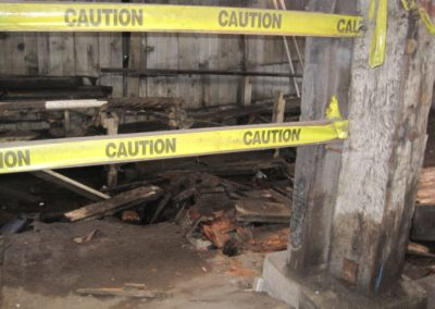 10. Hole in Flooring Inside of Large Warehouse